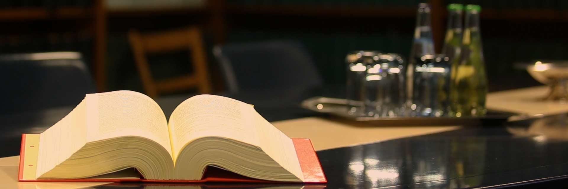 Foto von kessler∂ner mit einem Gesetzbuch zum Thema Fachgebiete