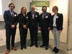 Luis Guijarro von kessler&partner mit den Botschaftern aus Ecuador und Bolivien